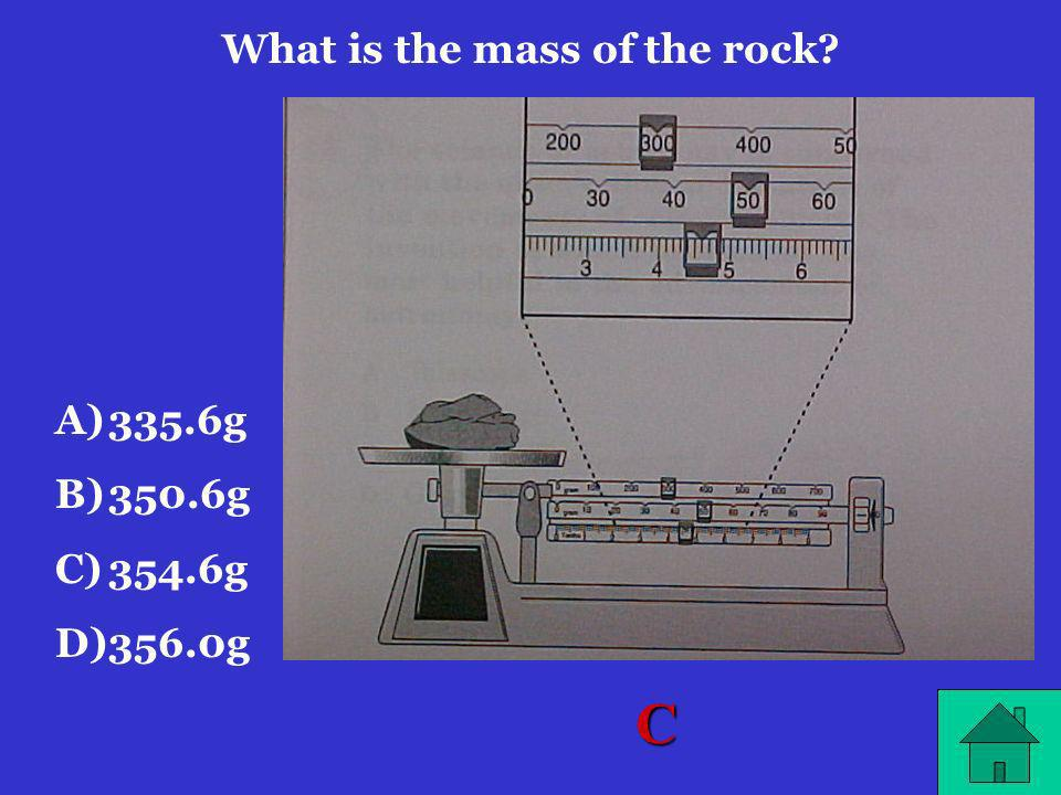 What is the mass of the rock