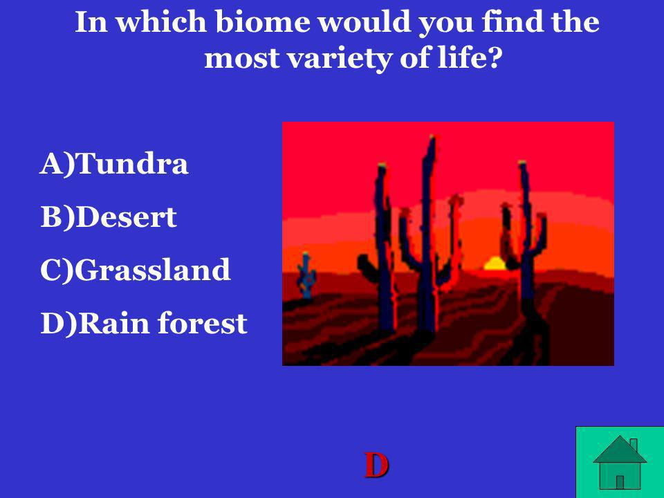 In which biome would you find the most variety of life