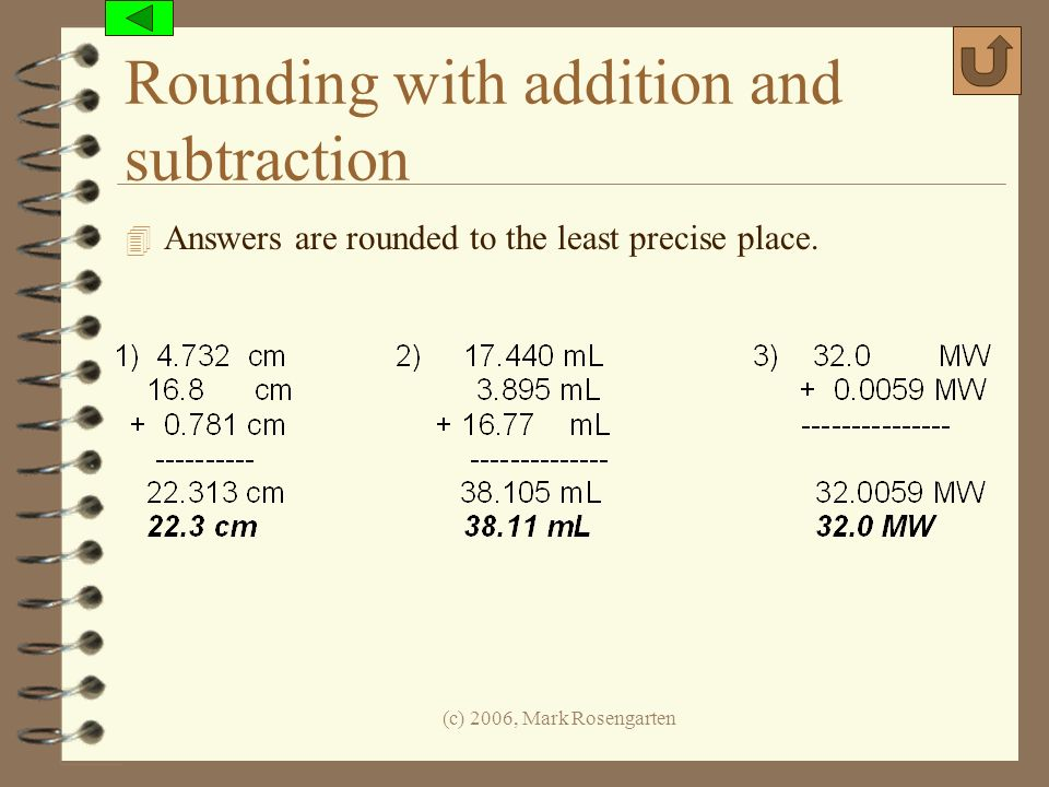 Rounding with addition and subtraction