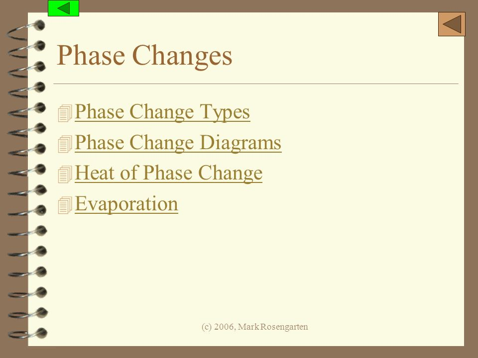 Phase Changes Phase Change Types Phase Change Diagrams
