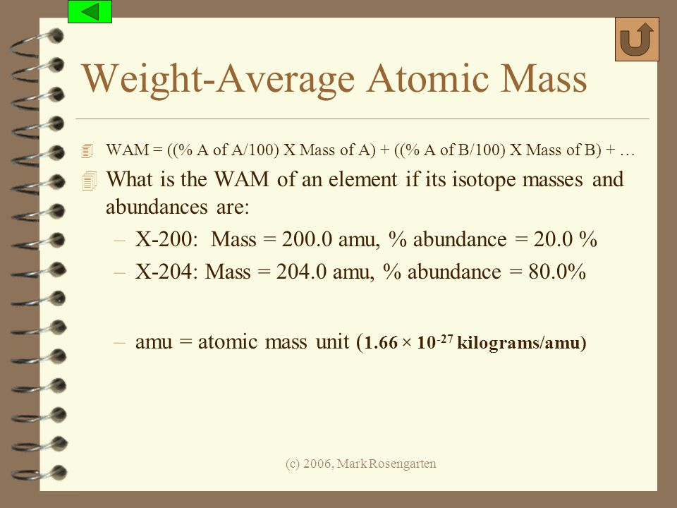 Weight-Average Atomic Mass