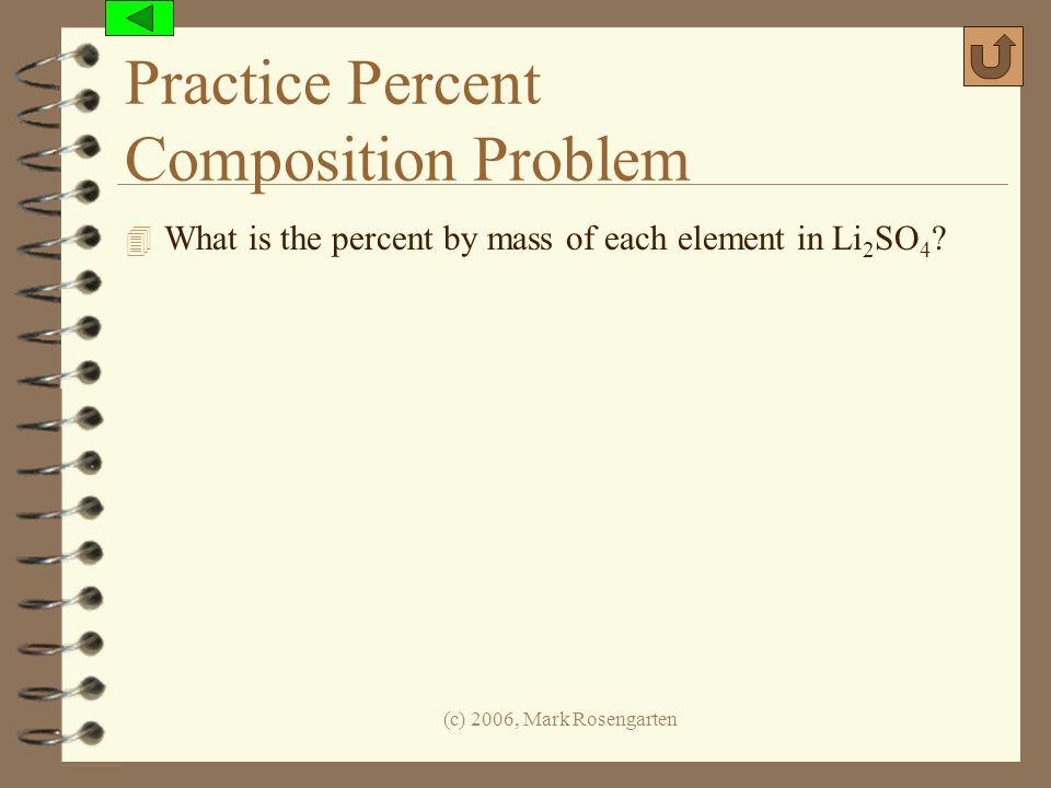 Practice Percent Composition Problem