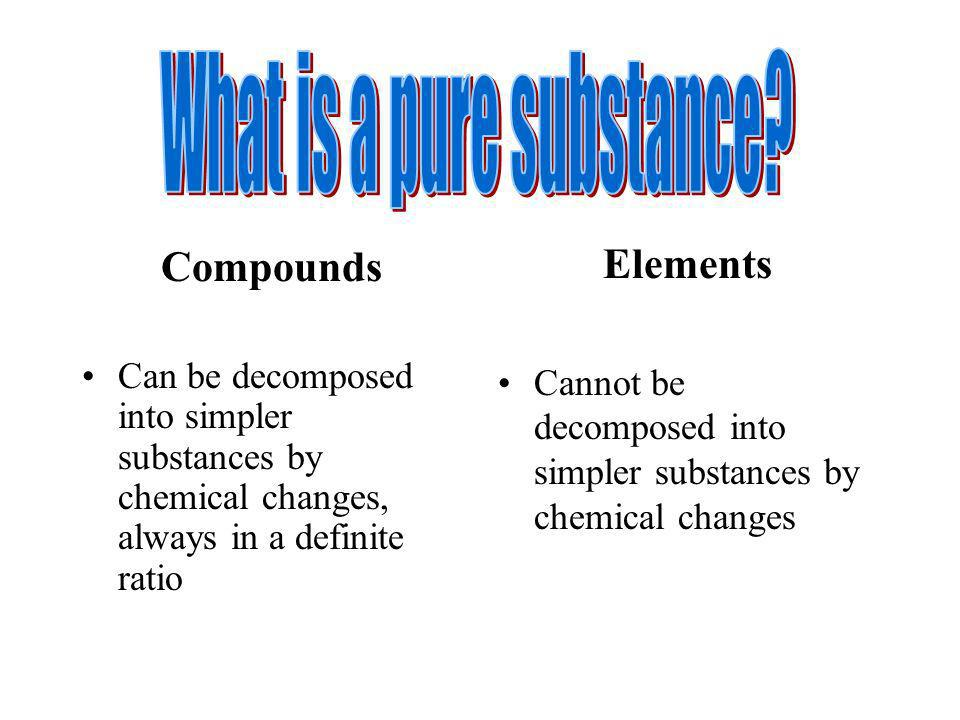 What is a pure substance