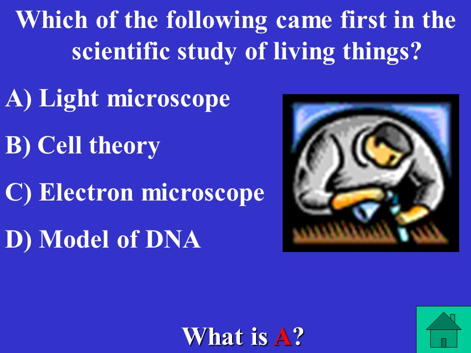Which of the following came first in the scientific study of living things