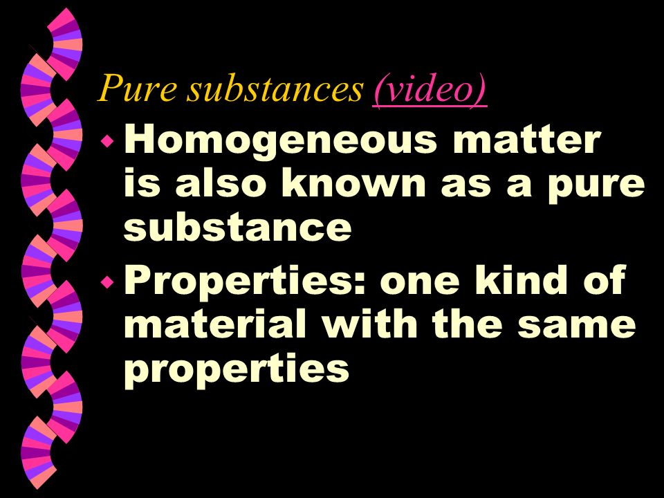 Pure substances (video)