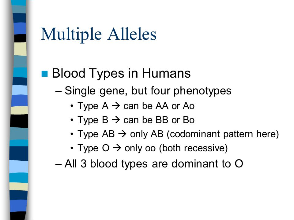 Multiple Alleles Blood Types in Humans