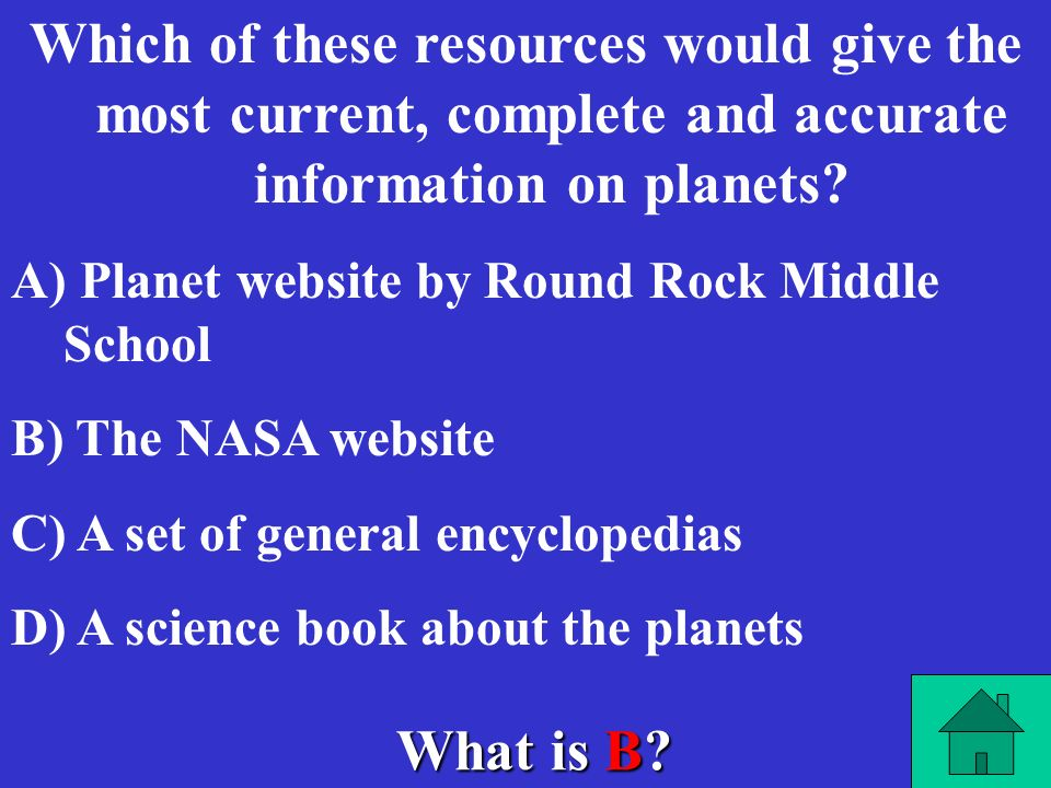 Which of these resources would give the most current, complete and accurate information on planets
