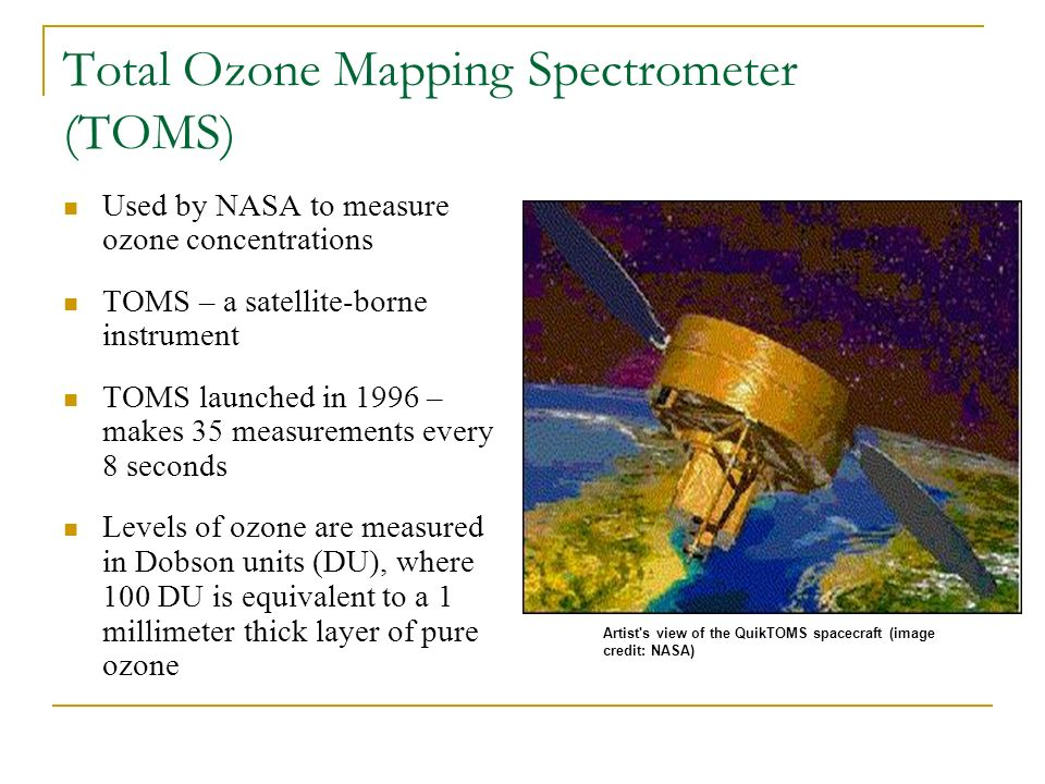 Total Ozone Mapping Spectrometer (TOMS)