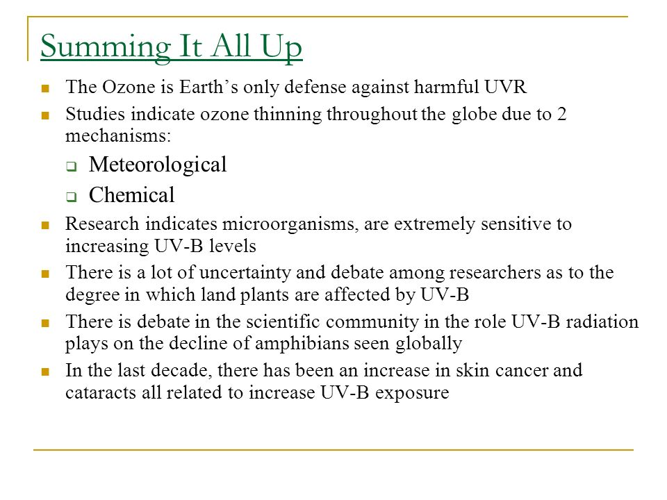 Summing It All Up Meteorological Chemical