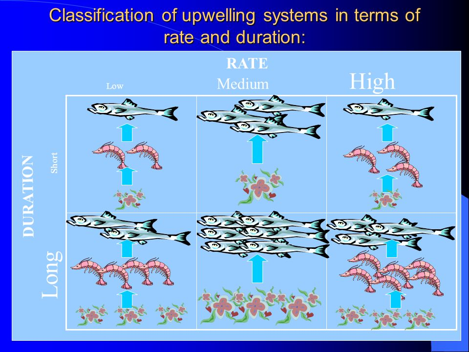 Classification of upwelling systems in terms of rate and duration: