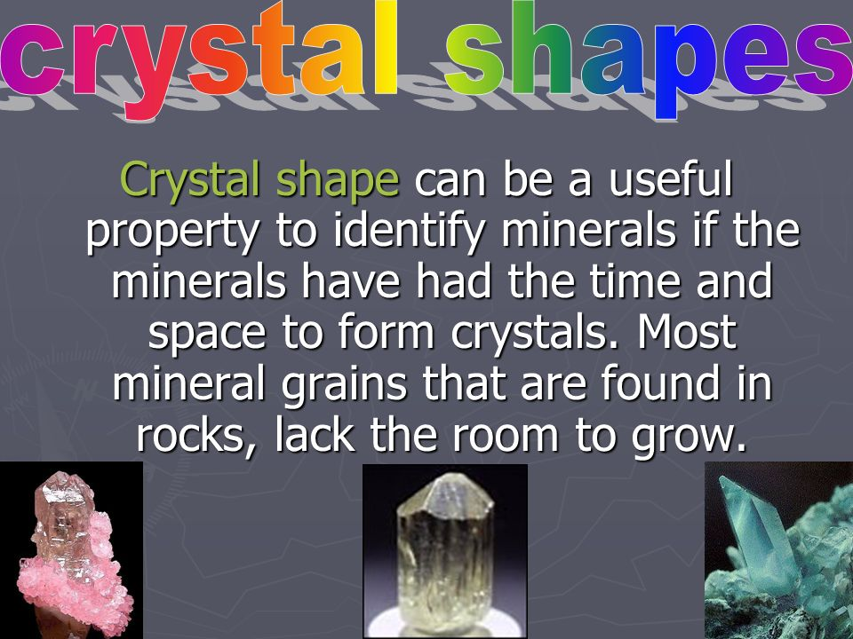 crystal shapes