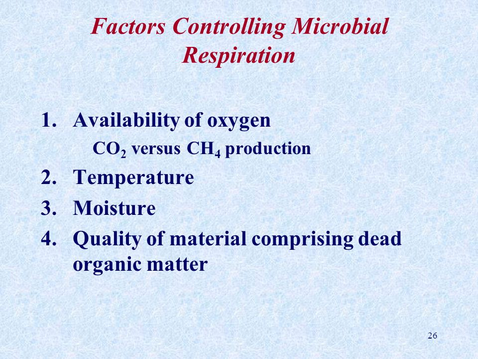 Factors Controlling Microbial Respiration