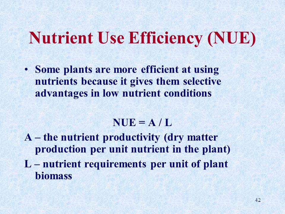 Nutrient Use Efficiency (NUE)