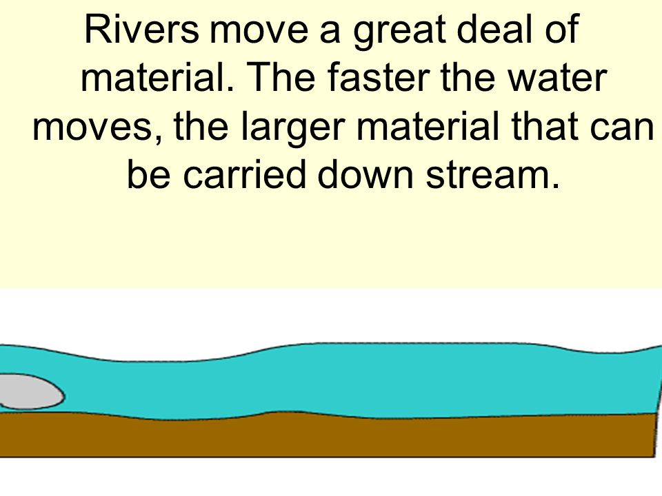 Rivers move a great deal of material