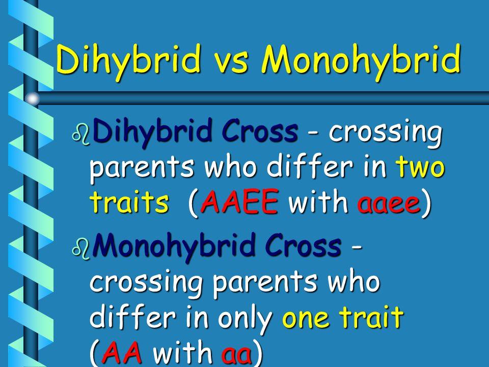 Dihybrid vs Monohybrid