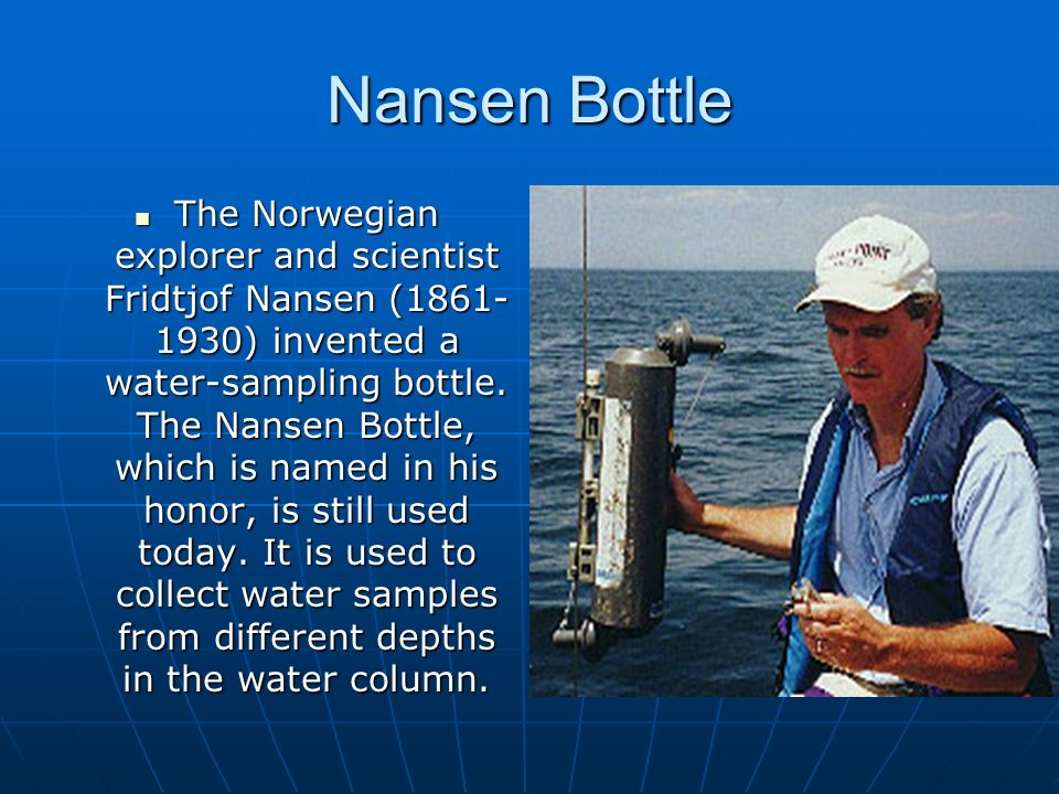 Nansen Bottle