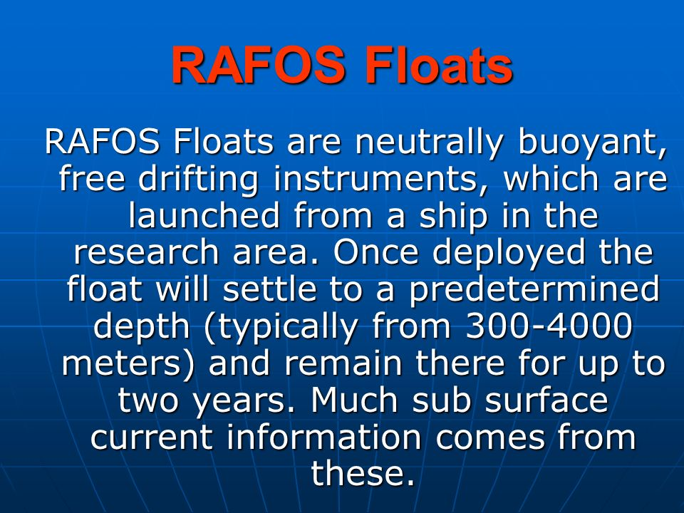 RAFOS Floats