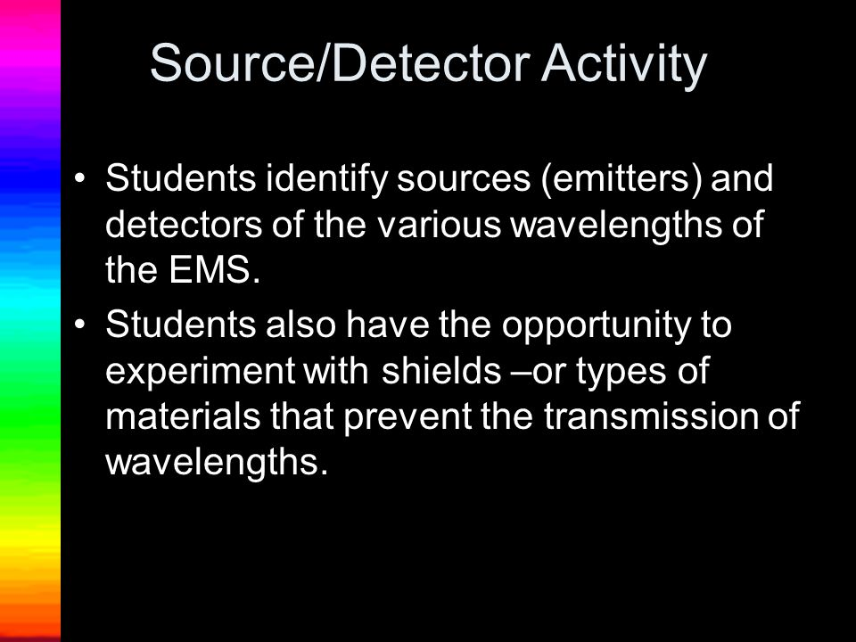 Source/Detector Activity