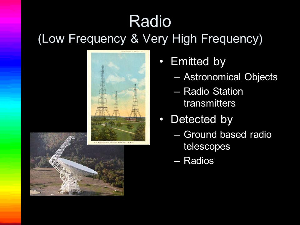 Radio (Low Frequency & Very High Frequency)