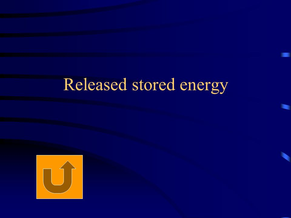 Released stored energy