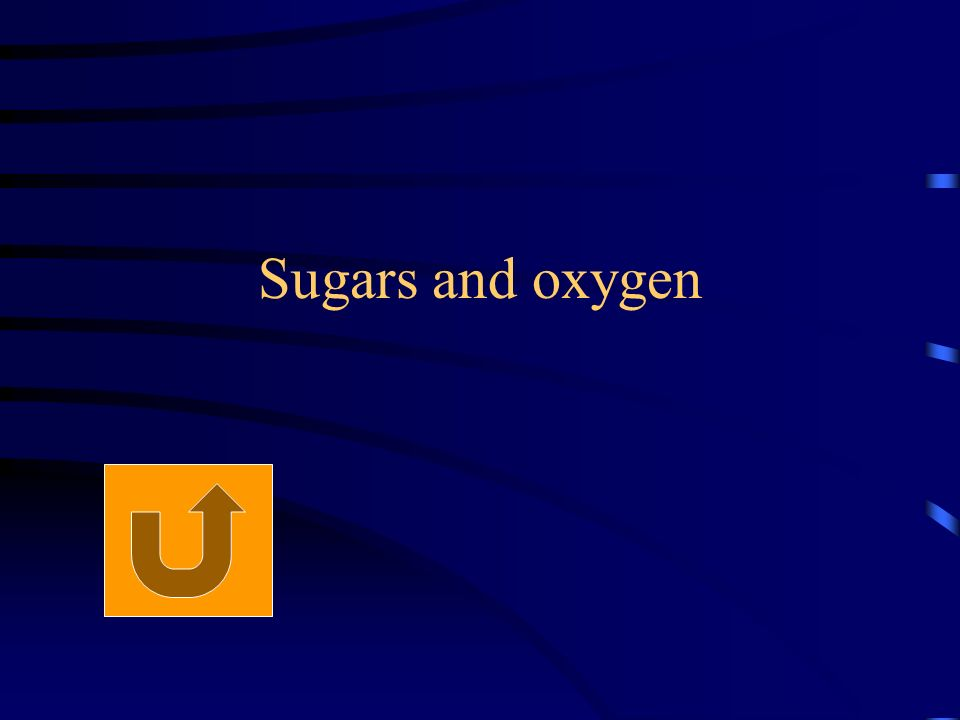 Sugars and oxygen