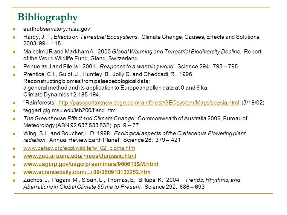 Bibliography earthobservatory.nasa.gov