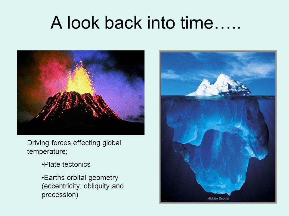 A look back into time….. Driving forces effecting global temperature;
