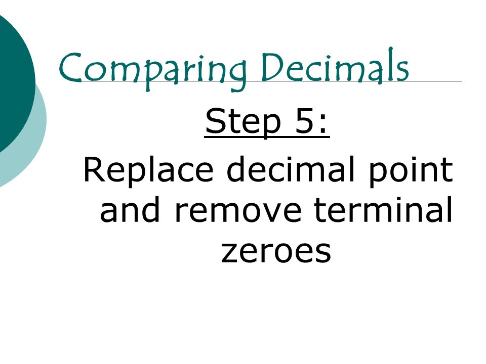 Replace decimal point and remove terminal zeroes