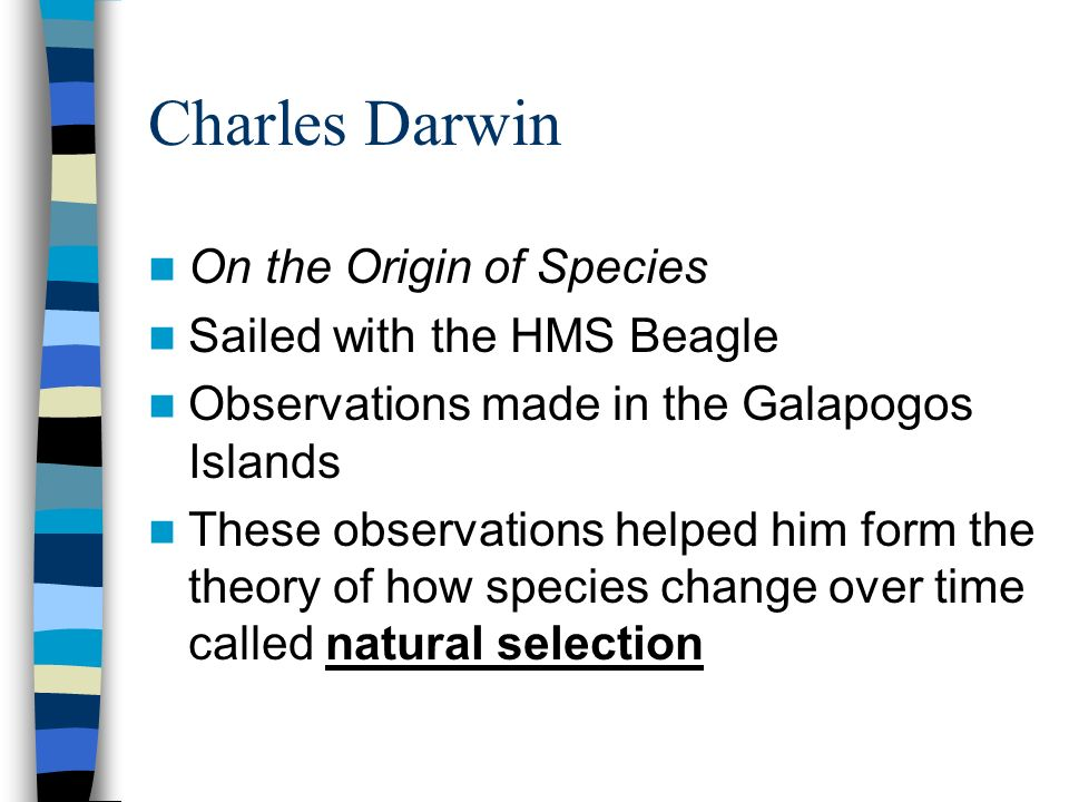Charles Darwin On the Origin of Species Sailed with the HMS Beagle