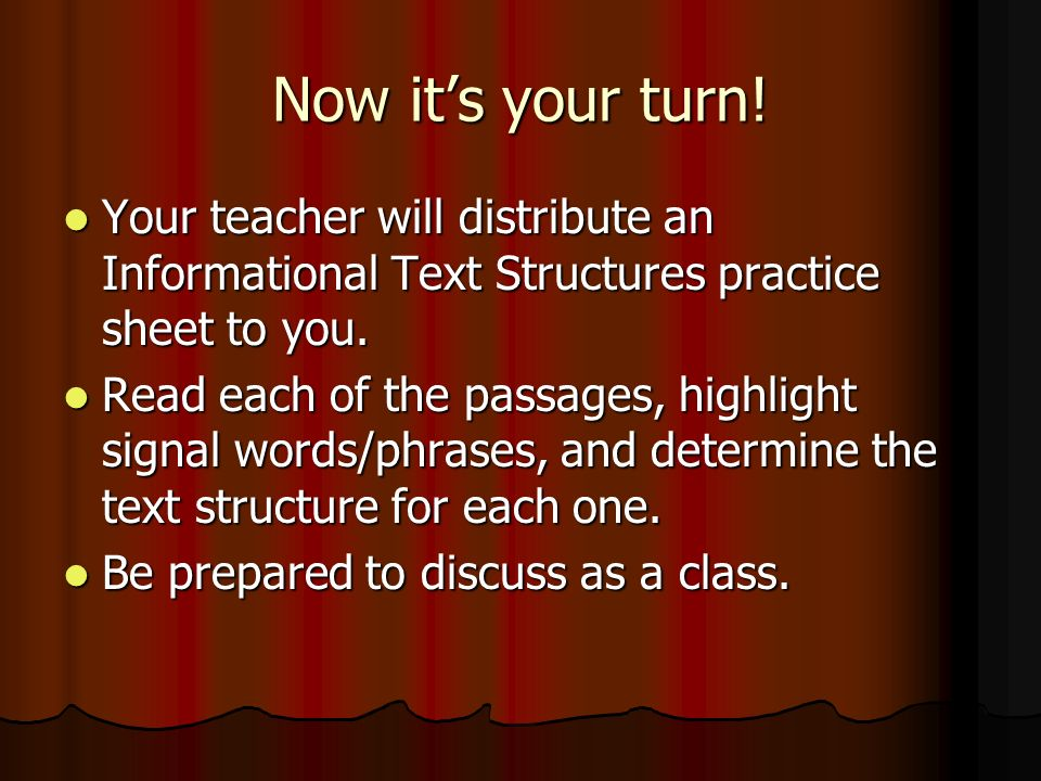 Text Structures Informational Text ppt video online download – Text Structure Practice Worksheets