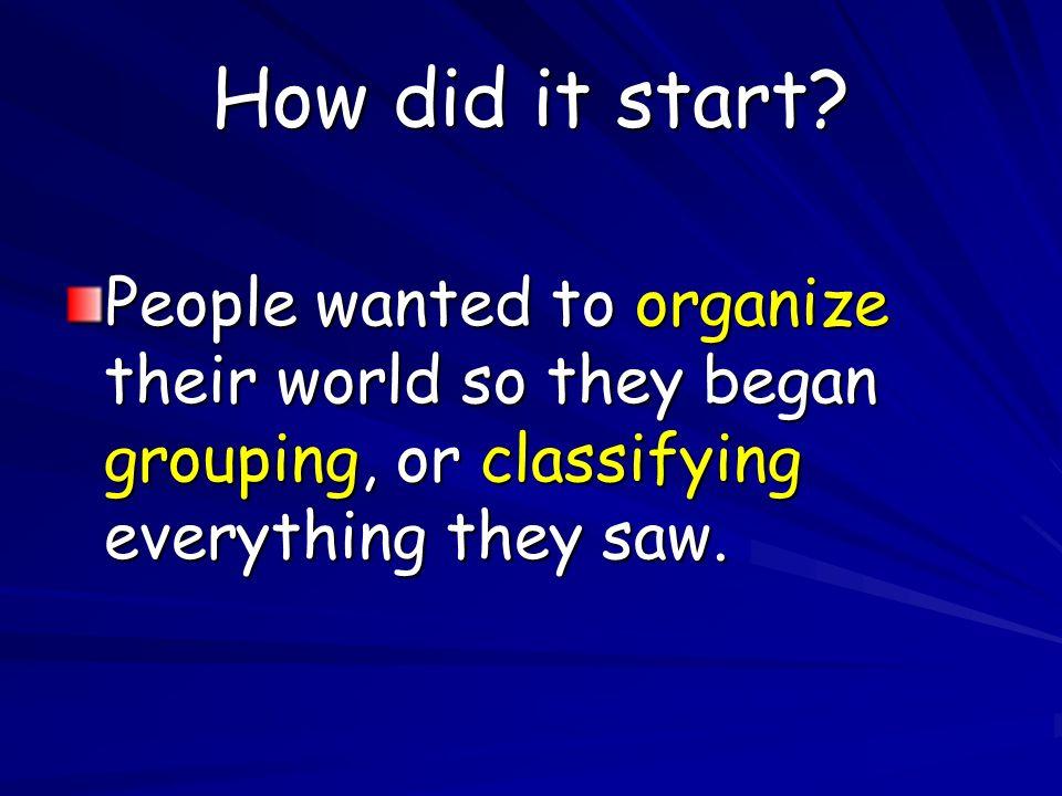How did it start.