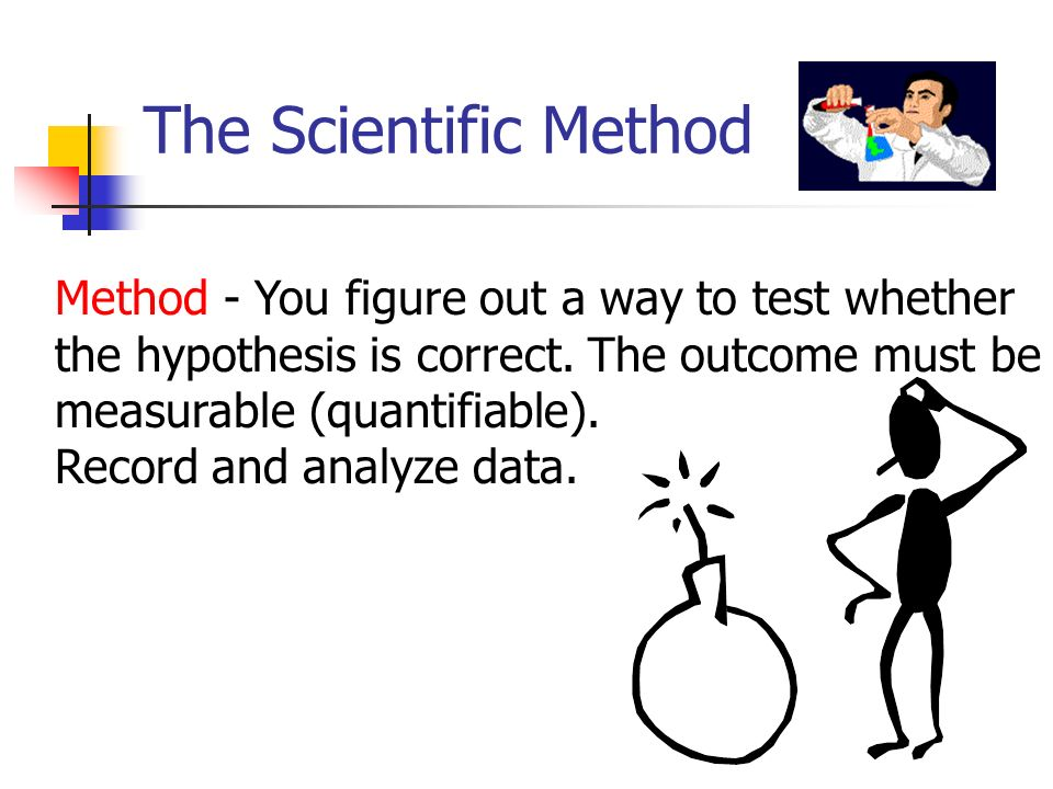 The Scientific Method Method - You figure out a way to test whether