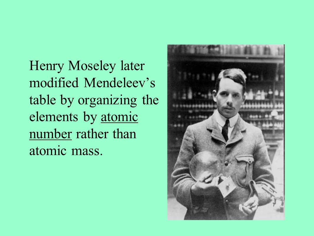 How did henry moseley arrange the periodic table images periodic the development of the periodic table ppt video online download 10 henry moseley later modified mendeleevs gamestrikefo Image collections
