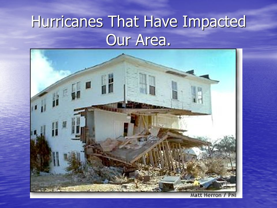 Hurricanes That Have Impacted Our Area.