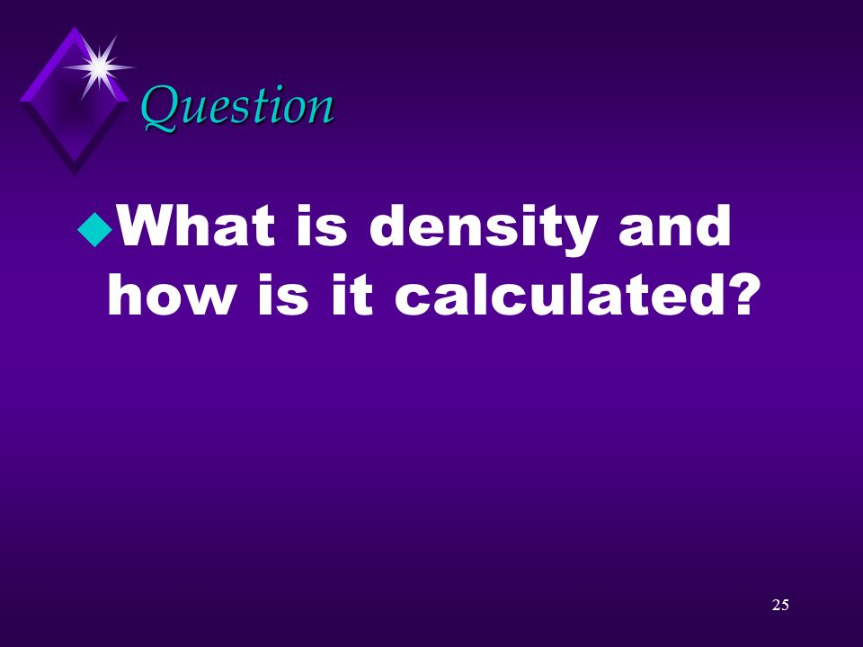 What is density and how is it calculated