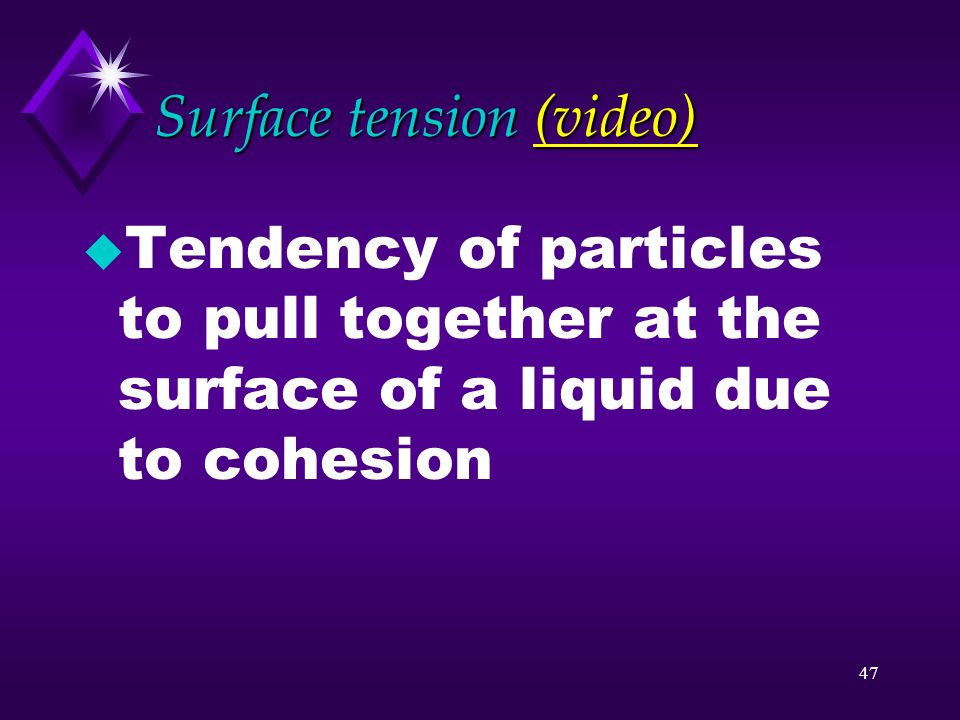 Surface tension (video)