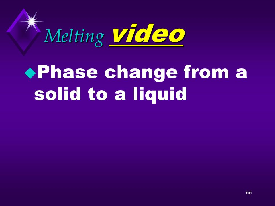 Melting video Phase change from a solid to a liquid