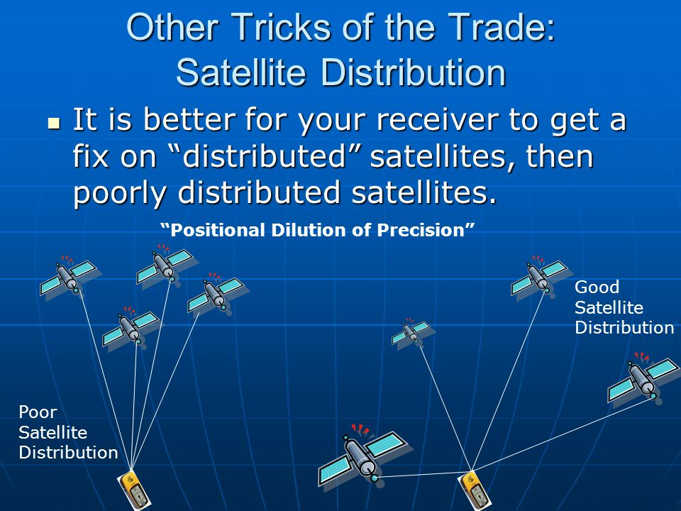 Other Tricks of the Trade: Satellite Distribution