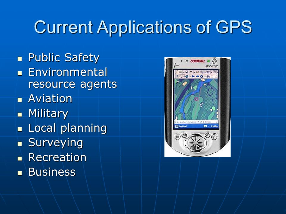 Current Applications of GPS