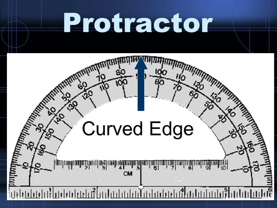 Protractor Curved Edge