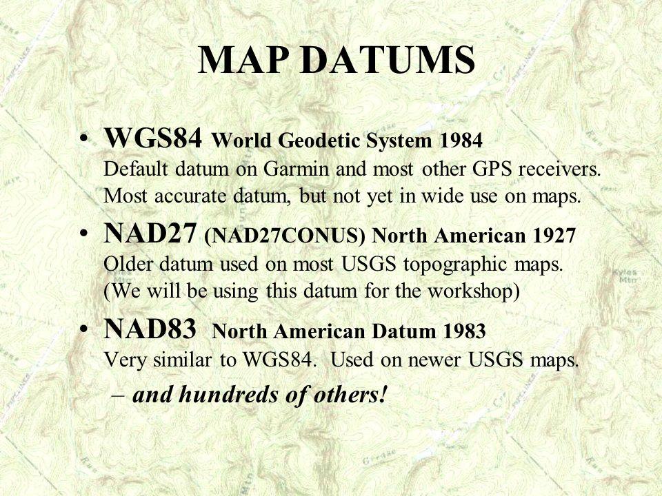 MAP DATUMS