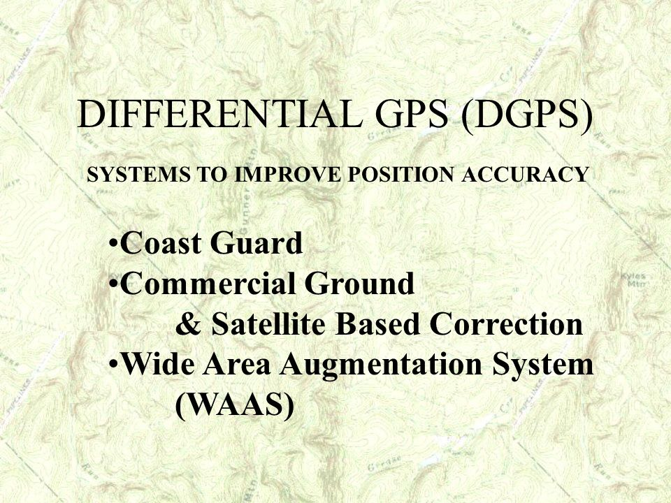SYSTEMS TO IMPROVE POSITION ACCURACY