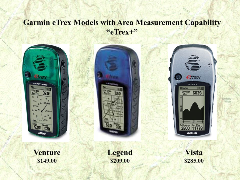 Garmin eTrex Models with Area Measurement Capability eTrex+