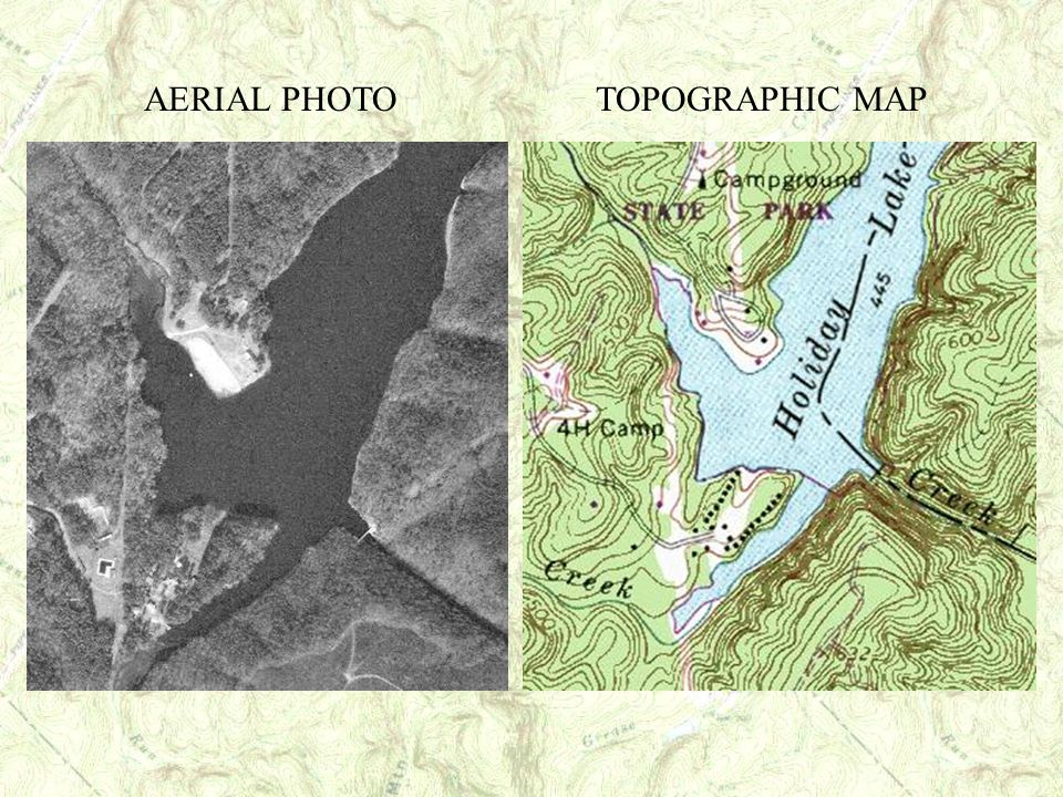 AERIAL PHOTO TOPOGRAPHIC MAP