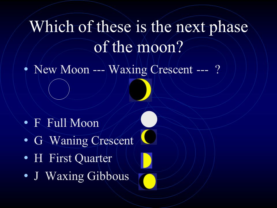 Which of these is the next phase of the moon