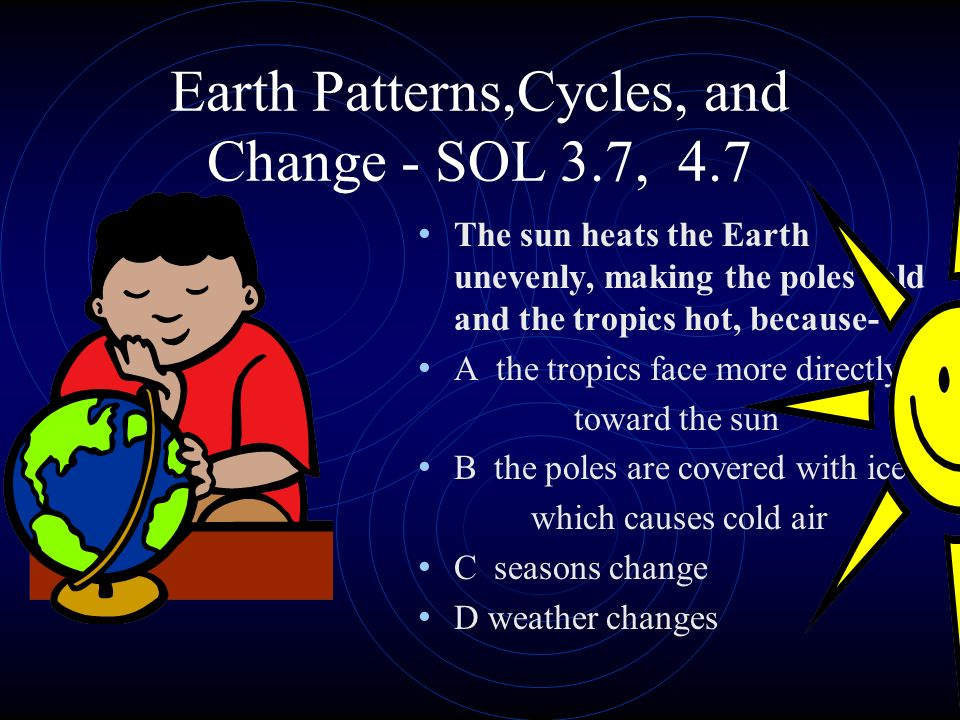 Earth Patterns,Cycles, and Change - SOL 3.7, 4.7