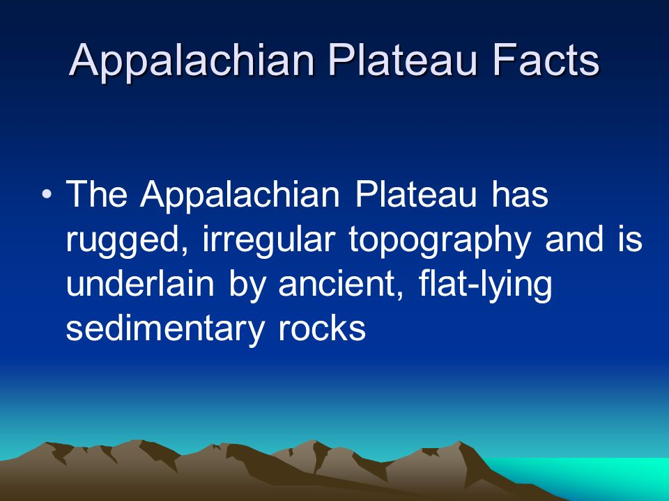 Appalachian Plateau Facts