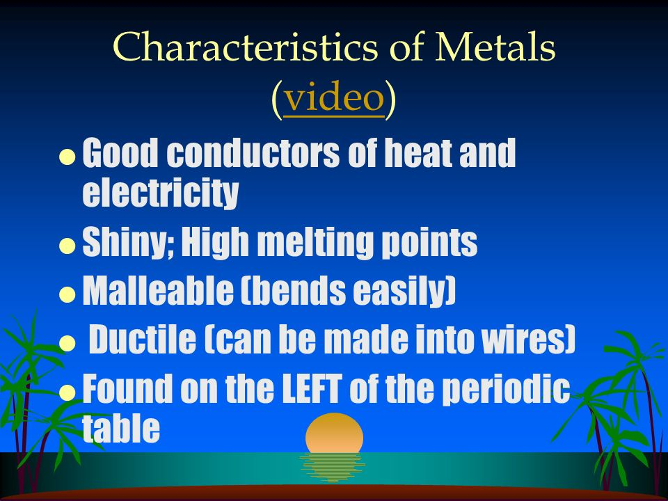 Characteristics of Metals (video)