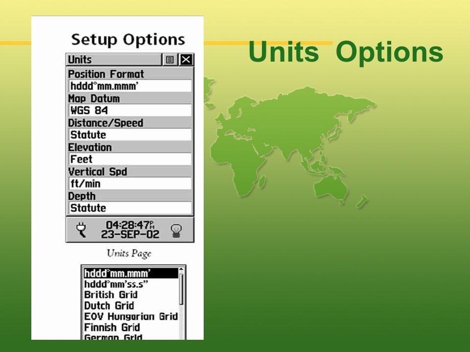 Units Options