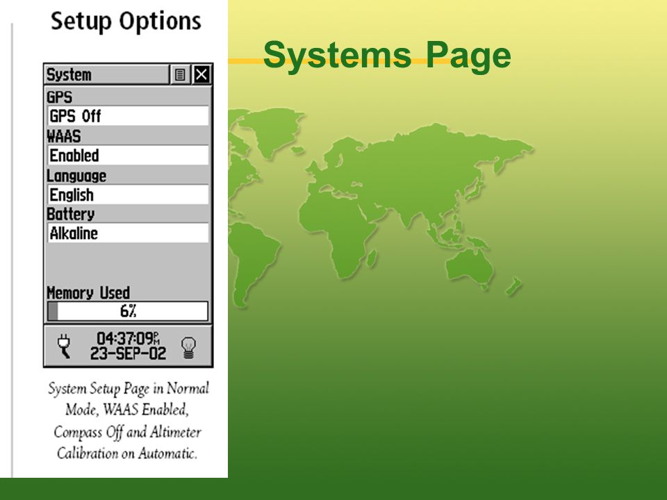 Systems Page
